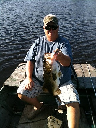 Rod Bamburg with a big bass, May, 2013
